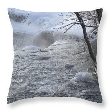 Frozen Magic Time Throw Pillow by Angel Vallee