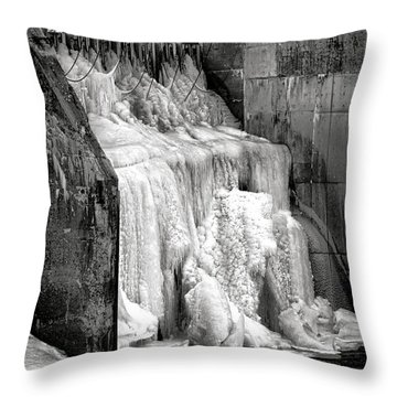 Throw Pillow featuring the photograph Frozen Power by Olivier Le Queinec