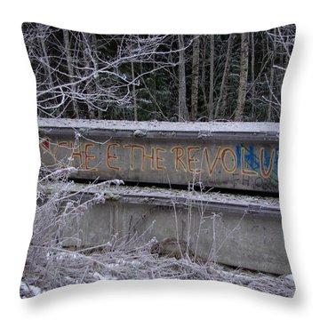 Frozen Revolution Throw Pillow