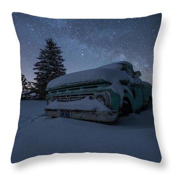 Frozen Rust  Throw Pillow by Aaron J Groen