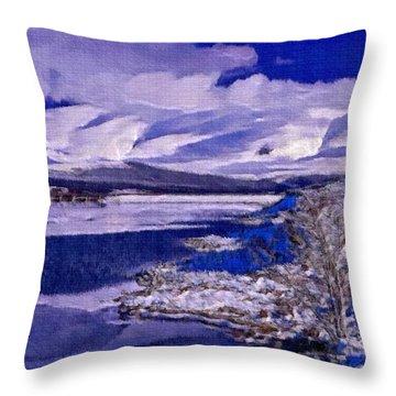 Frozen Shores Throw Pillow