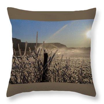 Frozen Sunrise Throw Pillow