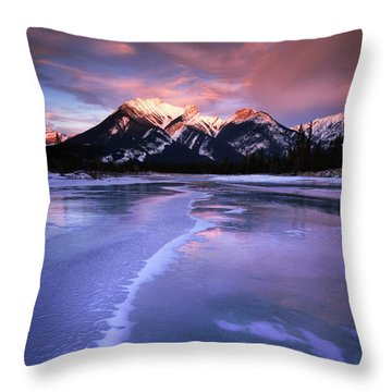 Frozen Sunrise Throw Pillow by Dan Jurak