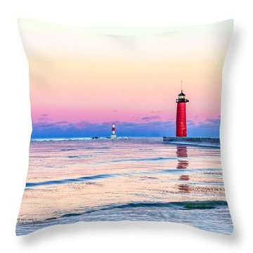 Frozen Sunset Throw Pillow