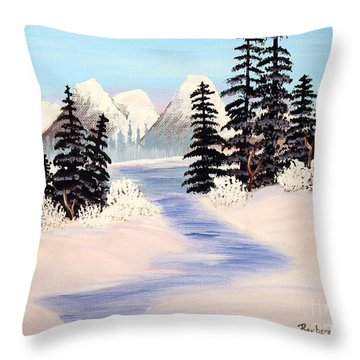 Frozen Tranquility Throw Pillow