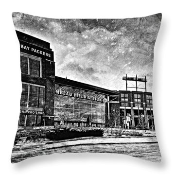 Frozen Tundra - Black And White Throw Pillow by Joel Witmeyer