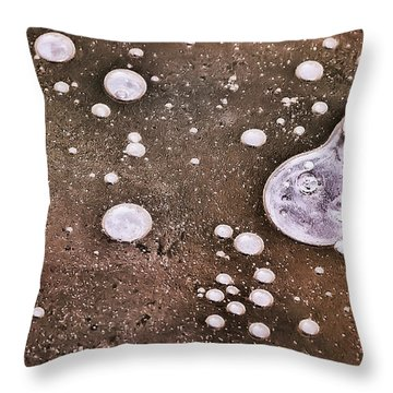 Throw Pillow featuring the photograph Frozen Water Drops Abstract by Gary Slawsky