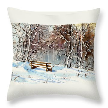 Frozen  View Throw Pillow by Art Scholz