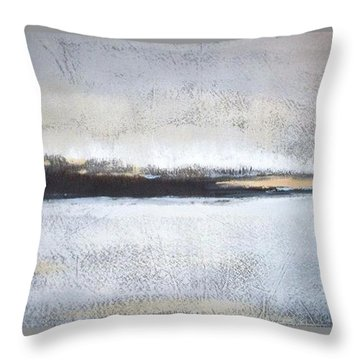Frozen Winter Lake Throw Pillow