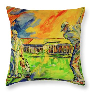 Fruehen Morgen Spiel   Early Morming Game Throw Pillow