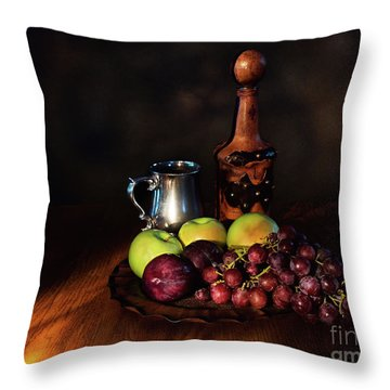 Fruit And Spirit Throw Pillow by Mark Miller
