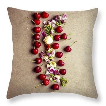 Fruit Art Throw Pillow