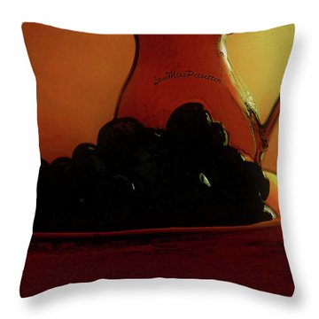 Fruit Art Plate Of Fruits And Jar Throw Pillow