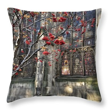 Fruit By The Church Throw Pillow by RKAB Works