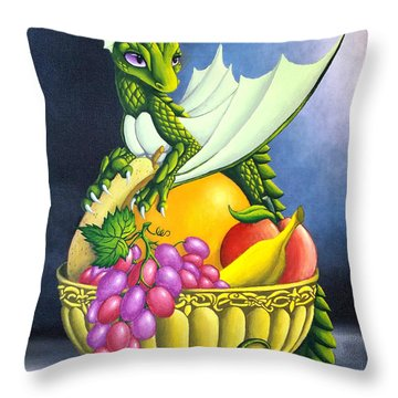 Fruit Dragon Throw Pillow