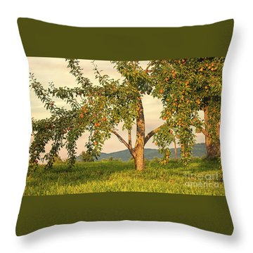Fruit In The Orchard Throw Pillow