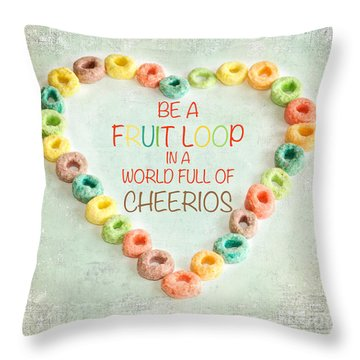 Fruit Loop Throw Pillow