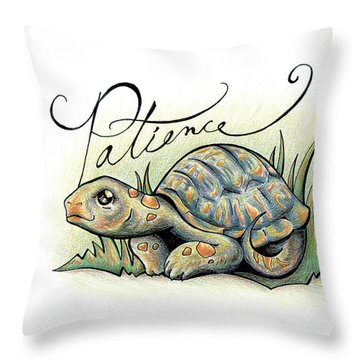 Fruit Of The Spirit Patience Throw Pillow
