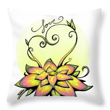 Fruit Of The Spirit Series 2 Love Throw Pillow