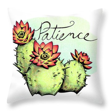 Fruit Of The Spirit Series 2 Patience Throw Pillow