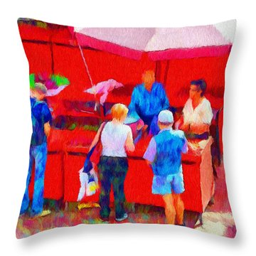 Fruit Of The Vendor Throw Pillow by Jeff Kolker
