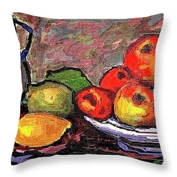 Fruit Throw Pillow by Pemaro