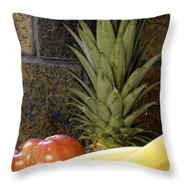 Fruit Pile Throw Pillow