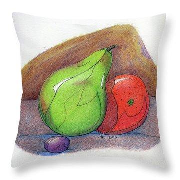 Fruit Still 34 Throw Pillow by Loretta Nash