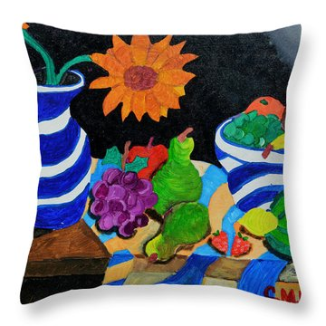 Fruitful Still Life Throw Pillow