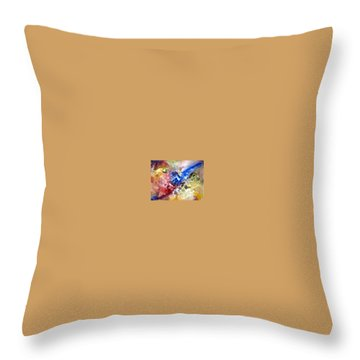 Throw Pillow featuring the painting Fruitfulness by Raymond Doward