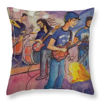 Fruition At The Barkley Ballroom Throw Pillow by David Sockrider