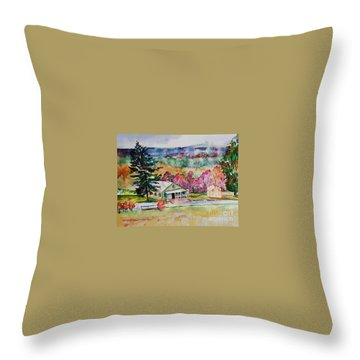 Throw Pillow featuring the painting Fruitlands IIi by Priti Lathia