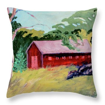 Throw Pillow featuring the painting Fruitlands Iv by Priti Lathia