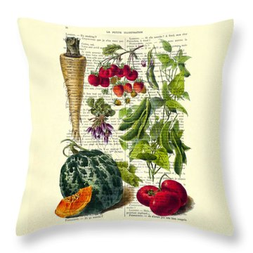 Fruits And Vegetables Kitchen Decoration Throw Pillow