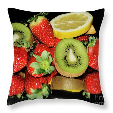 Throw Pillow featuring the photograph Fruits by Elvira Ladocki