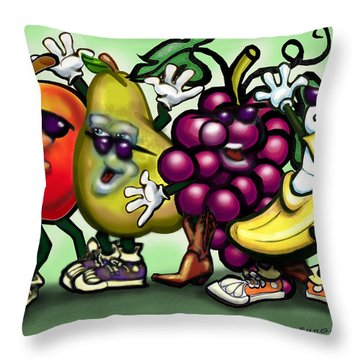 Fruits Throw Pillow by Kevin Middleton
