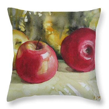 Throw Pillow featuring the painting Fruits Of The Earth by Elena Oleniuc