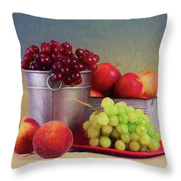 Fruits On Centerstage Throw Pillow