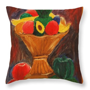 Fruits Still Life Throw Pillow