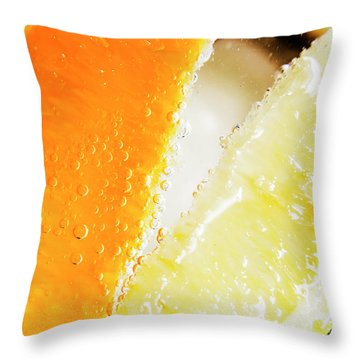 Fruity Drinks Macro Throw Pillow