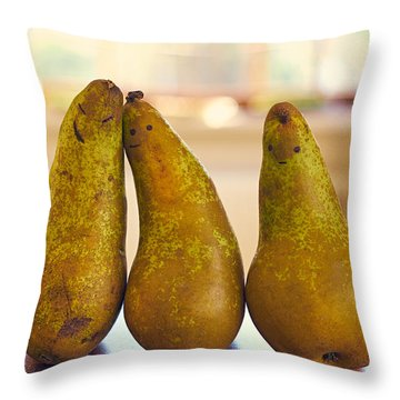 Fruity Family Throw Pillow