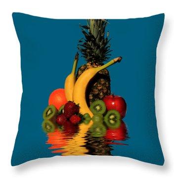 Fruity Reflections - Dark Throw Pillow