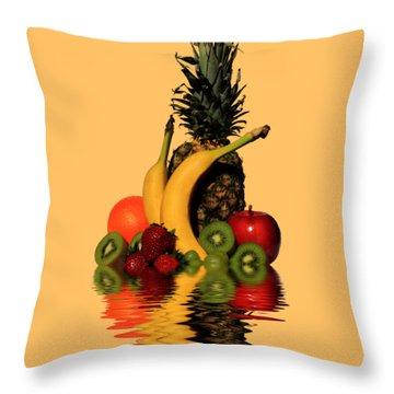 Fruity Reflections - Medium Throw Pillow
