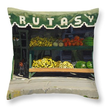 Frutas Y Throw Pillow by Michael Ward