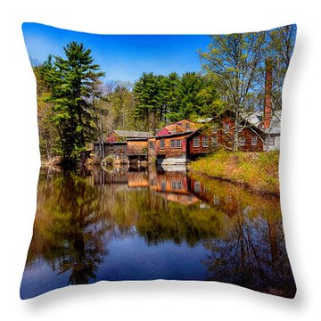 Frye Measure Mill Throw Pillow by Tricia Marchlik