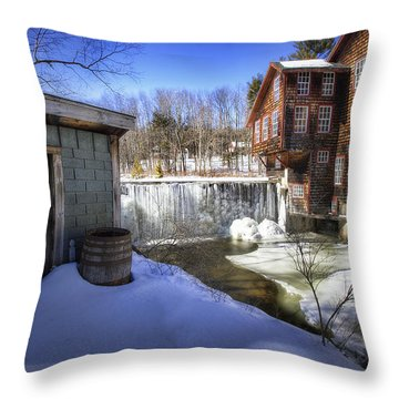 Frye's Measure Mill Throw Pillow