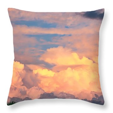 Ft De Soto Sunset Clouds Throw Pillow