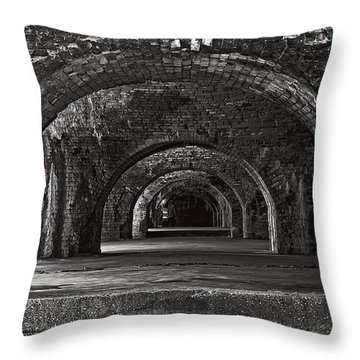 Ft. Pickens Arches Bw Throw Pillow