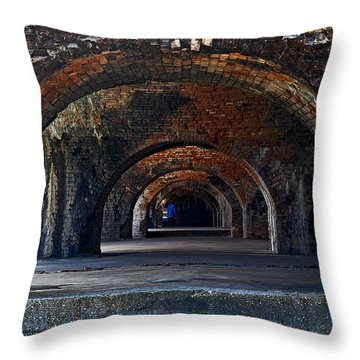 Ft. Pickens Arches Throw Pillow