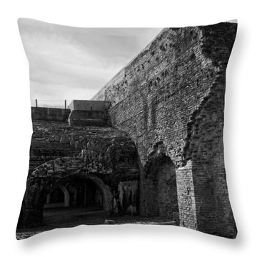 Ft. Pickens Explosion Throw Pillow